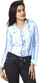 Defossile Double Layer Women's Striped Casual Shirt