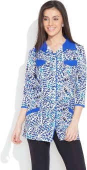 Ayaany Feather Touch Women's Printed Casual Shirt