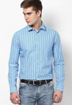 Byford By Pantaloons Men's Striped Formal Shirt