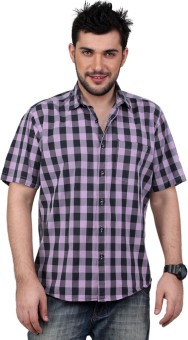Zeal Pre-Washed Cotton Men's Checkered Formal Shirt