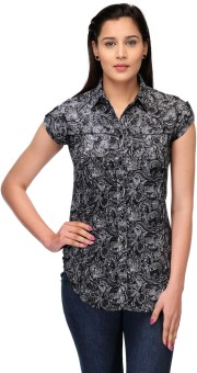 Fashion Cult Fancy Plated Design Women's Printed Casual Shirt