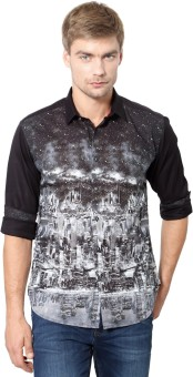 Van Heusen Men's Graphic Print Party Shirt