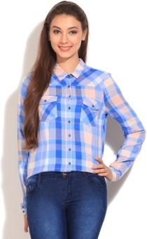 Vero Moda Women's Checkered Casual Shirt