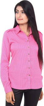Mallika Dotted Women's Polka Print Casual Shirt
