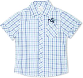 Max Boy's Checkered Casual Shirt