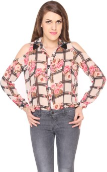 Lemon Chillo Women's Floral Print Casual Shirt