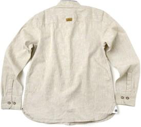 WROGN Boy's Solid Casual Beige Shirt