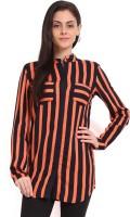 Sweet Lemon Women's Striped Casual Shirt