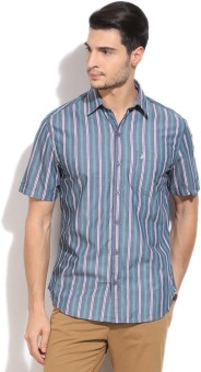 John Players Men's Striped Casual Shirt