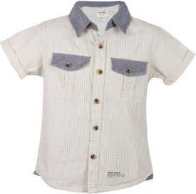 Tonyboy Boy's Checkered Casual Shirt