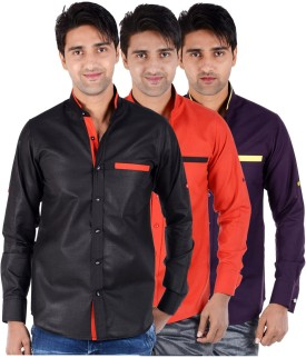 S9 Men Men's Solid Formal, Festive, Party Shirt Pack Of 3