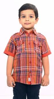 Bio Kid Short Sleeve Baby Boy's Checkered Casual Shirt