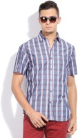 John Players Men's Checkered Casual Shirt - SHTDN9VVZQGYJG9E