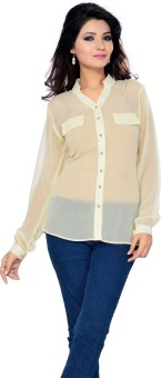 Ishin Women's Solid Party Shirt