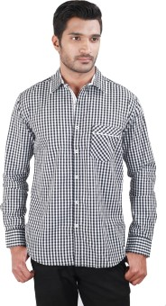 US Designs Black Color Men's Checkered Casual Shirt