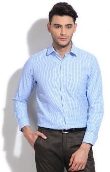 Peter England Men's Checkered Formal Shirt