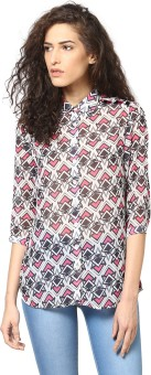 Love From India Women's Geometric Print Casual Shirt