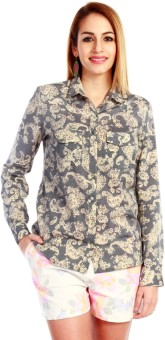 Nun Paisley Shirt Women's Floral Print Casual Shirt