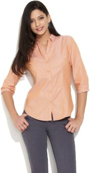 Scullers Macaron Ditsy Teardrop Women's Printed Casual Shirt