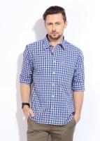 Indian Terrain Men's Checkered Casual Shirt - SHTDUESH6963RMNV