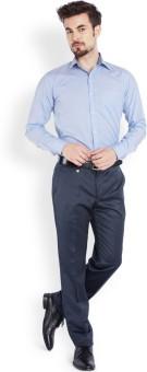 Park Avenue Men's Solid Formal Light Blue Shirt