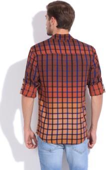 The Indian Garage Co. Men's Checkered Casual Shirt