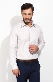 Blackberrys Men's Woven Formal Beige Shirt