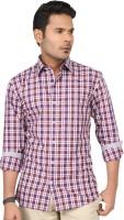 Jade Blue Men's Checkered Casual Shirt