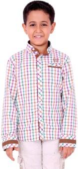 OKS Boys Boy's Checkered Casual Shirt