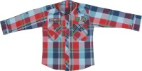 Chinar Shirts Denim Wear Boy's Checkered Casual Shirt