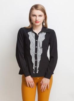 Oxolloxo Mesh Women's Solid Casual Shirt