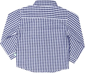 ShopperTree Baby Boy's Checkered Casual Blue Shirt