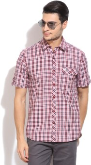 John Players Men's Checkered Casual Shirt - SHTE8AJYAZMWFTRJ