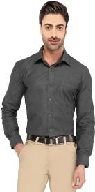 Imagica Men's Solid Formal Black Shirt