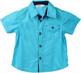 Beebay Baby Boy's Solid Casual Light Blue Shirt