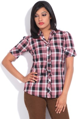 Style Quotient by Noi Women's Checkered Casual Shirt