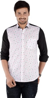 S9 MEN Men's Solid, Printed Casual, Party Shirt