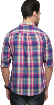 Zovi Men's Checkered Casual Shirt
