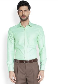 Raymond Men's Solid Formal Green Shirt