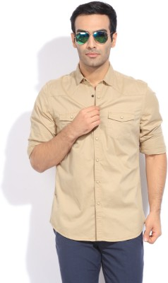 Bossini Bossini Men's Solid Casual Shirt (Brown)