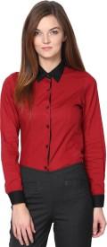 Dazzio Women's Solid Formal Shirt