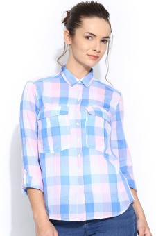 Silly People Women's Checkered Casual Shirt