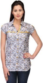 Fashion Cult Women's Geometric Print Casual Shirt - SHTE4MQYRZYKKCHP