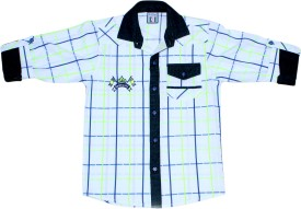 Bad Boys Mix & Match Boy's Checkered Casual Shirt