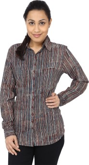 Samprada Striped Charm Women's Striped Casual Shirt