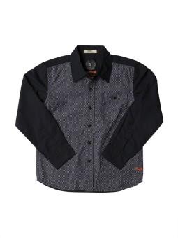 SuperYoung TSYB/SS15/OC 1311_NAVY Boy's Polka Print Casual Shirt