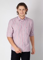 Laven Men's Striped Formal Shirt