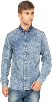 Blue Saint Men's Self Design Casual Shirt
