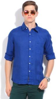 Pepe Men's Solid Casual Linen Shirt