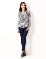 Hermosear Women's Geometric Print Casual Shirt